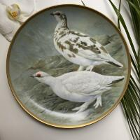 Тарелка Franklin Porcelain Gamebirds Limoges Ptarmigan 1979 23 см