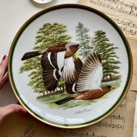 Тарелка 26,5 см Franklin porcelain Japan 1980 Chaffinch