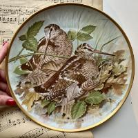 Тарелка Franklin Porcelain Gamebirds Limoges Woodcock 1979 23 см